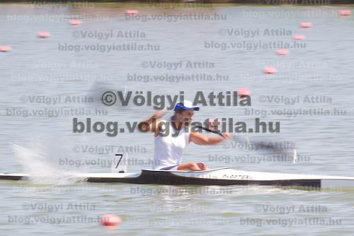 Ekaterina Shaburishvili from Georgia competes in the K1 women kayak 1000m preliminary during the 2011 ICF World Canoe Sprint Championships held in Szeged, Hungary. Thursday, 18. August 2011. ATTILA VOLGYI