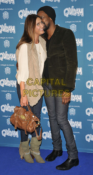 LONDON, ENGLAND - JANUARY 07: Lisa Snowdon &amp; guest attend the &quot;Cirque du Soleil: Quidam&quot; VIP press night, Royal Albert Hall, Kensington Gore, on Tuesday January 07, 2014 in London, England, UK.<br /> CAP/CAN<br /> &copy;Can Nguyen/Capital Pictures