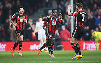 Max Gradel of Bournemouth celebrates scoring the opening goal during the Barclays Premier League match between AFC Bournemouth and Swansea City played at The Vitality Stadium, Bournemouth on March 11th 2016