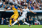 Carlos Henrique Casemiro (r) of Real Madrid fights for the ball with Igor de Camargo of APOEL FC during the UEFA Champions League 2017-18 match between Real Madrid and APOEL FC at Estadio Santiago Bernabeu on 13 September 2017 in Madrid, Spain. Photo by Diego Gonzalez / Power Sport Images