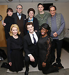 """L to R: Rebekah Brockman, Kaitlyn Davidson, Boyd Gaines, Jacob ben Widmar, Debra Monk, Corey Mach, Kimberly Marable and Will LeBow from  """"Mrs. Miller Does Her Thing""""  at the Signature Theatre on March 18, 2017 in Arlington, Virginia."""