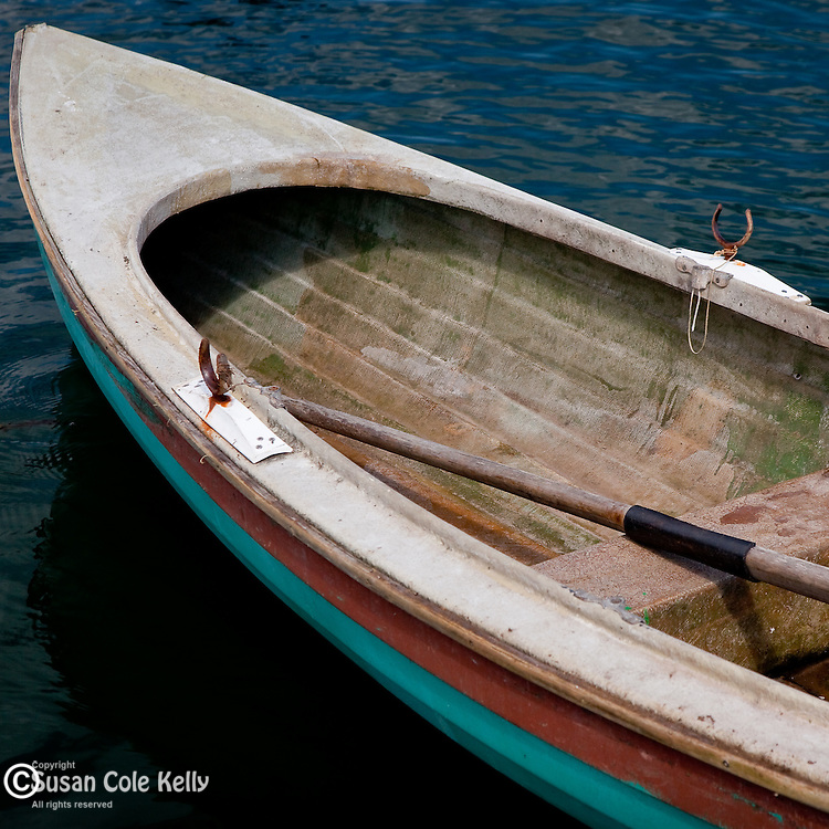 A rowboat in the fishing village of Jonesport, Downeast, ME, USA