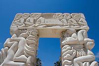 Asie/Israel/Tel-Aviv-Jaffa/Vieux Jaffa: Statue de la Foi dans le jardin Gan Ha-Pisga situé sur la colline de Jaffa