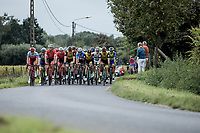Peloton at ease<br /> <br /> 103th Kampioenschap van Vlaanderen 2018 (UCI 1.1)<br /> Koolskamp &ndash; Koolskamp (186km)