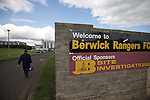 A peculator making their way to Shielfield Park, before the Scottish League Two fixture between Berwick Rangers and East Stirlingshire. The home club occupied a unique position in Scottish football as they are based in Berwick-upon-Tweed, which lies a few miles inside England. Berwick won the match by 5-0, watched by a crowd of 509.