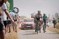 Daryl Impey (ZAF/Mitchelton-Scott) on pavé sector #3<br /> <br /> Stage 9: Arras Citadelle > Roubaix (154km)<br /> <br /> 105th Tour de France 2018<br /> ©kramon