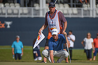 Harris English (USA) looks over his putt on 18 during round 4 of the 2019 Houston Open, Golf Club of Houston, Houston, Texas, USA. 10/13/2019.<br /> Picture Ken Murray / Golffile.ie<br /> <br /> All photo usage must carry mandatory copyright credit (© Golffile | Ken Murray)
