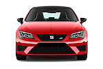 Car photography straight front view of a 2016 Seat Leon CUPRA 280 5 Door Hatchback Front View