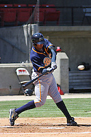 Matt Fields #48 of the Montgomery Biscuits batting during a game against the Carolina Mudcats on April 18, 2010 in Zebulon, NC.