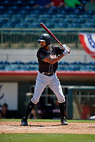Jupiter Hammerheads designated hitter Tristan Pompey (6) at bat during a Florida State League game against the Florida Fire Frogs on April 11, 2019 at Osceola County Stadium in Kissimmee, Florida.  Jupiter defeated Florida 2-0.  (Mike Janes/Four Seam Images)