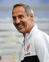 Trainer Adi Huetter (Eintracht Frankfurt) Aufwärmen - 26.05.2020 Fussball 1.Bundesliga Spieltag 28, Eintracht Frankfurt  - SC Freiburg emspor, <br /> <br /> Foto: Jan Huebner/Pool/ Via Marc Schueler/Sportpics.de<br /> (DFL/DFB REGULATIONS PROHIBIT ANY USE OF PHOTOGRAPHS as IMAGE SEQUENCES and/or QUASI-VIDEO), Editorial use only. National and International News Agencies OUT