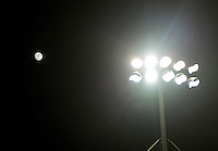 The Moon shines behind Blackpool Stadium floodlights ahead of the The Checkatrade Trophy match between Blackpool and Wycombe Wanderers at Bloomfield Road, Blackpool, England on 10 January 2017. Photo by Andy Rowland / PRiME Media Images.