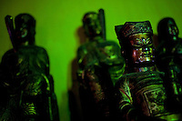 Statues of Buddhist dieties in the Giac Vien Pagoda in District 11 in Ho Chi Minh City, Vietnam. Photo taken Monday, May 3, 2010...Kevin German / LUCEO