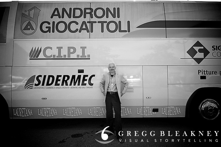 "Italian-born Androni Giocattoli coach Gianni Savio has been managing professional cycling teams for 27 years.  He says, ""I make this job with passion and enthusiasm.  For me the most important thing for me is to discover young, unknown riders and put them on the professional map with the little funds that I have"""
