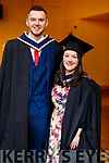 Darragh Jones (Currow, Killarney) and Caitriona Power (Keel Castlemaine) who graduated in Accounting from IT Tralee, at the Brandon Conference Centre, Tralee, on Friday last.