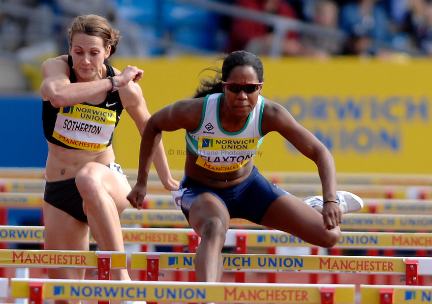 Photo: Richard Lane/Richard Lane Photography..Norwich Union World Trials and AAA Championships. 28/07/2007. .Sarah Claxton in the women's 100m hurdles final.