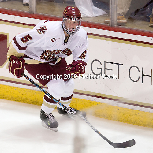 Philip Samuelsson (BC - 5) - The Boston College Eagles defeated USA Hockey's National Team Development Program's Under 18 team 6-3 on Friday, October 9, 2009 at Conte Forum in Chestnut Hill, Massachusetts.
