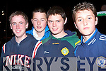 DOG NIGHT: Jeremy Lyons, Liam Power, Don Prendo and Greg O'Connor all from Lixnaw enjoying there night out at the Scoil Naomh Eirc, Kilmoyley Night At The Dogs night at the Kingdom Greyhound Stadium on Friday night.   Copyright Kerry's Eye 2008