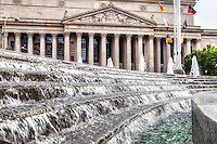 National Archives from the Navy Memorial Fountain Washington DC Architecture