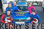 3073-3076.Engine check: Well known Ventry family of Alan, Gretta, Tadhg and Tony Dineen with Sarah McSweeney checking every thing before the start of the Circuit of Kerry car rally last Sunday morning..