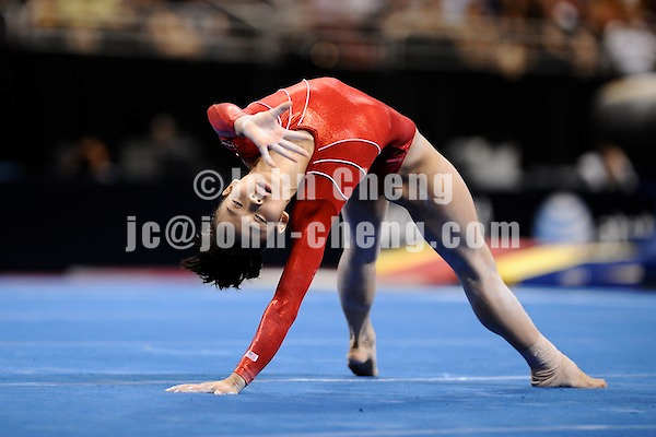 6/22/08 - Photo by John Cheng for USA Gymnastics.  Olympic Trials Day 2 Women Competition take place at Wachovia Center in Philadelphia.