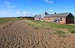 Houses in the coastal hamlet of Shingle Street, Suffolk, England, Uk