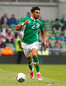 June 4th 2017, Aviva Stadium, Dublin, Ireland; International football friendly, Republic of Ireland versus Uruguay; Cyrus Christie on the ball for Republic of Ireland