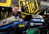 Jun. 1, 2014; Englishtown, NJ, USA; NHRA top fuel driver Richie Crampton during the Summernationals at Raceway Park. Mandatory Credit: Mark J. Rebilas-