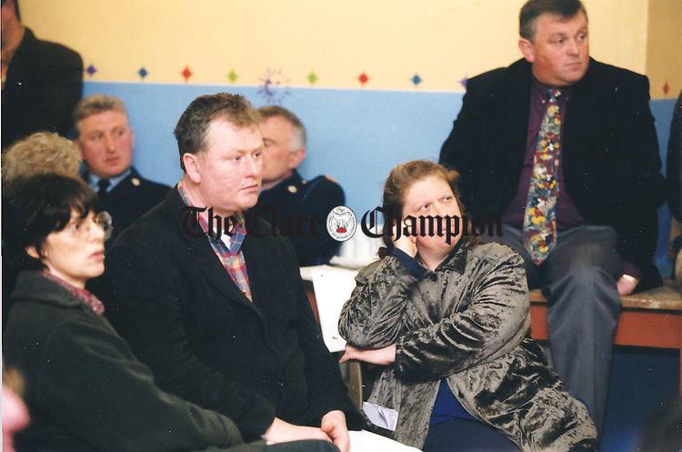 Orla Ní Éilí of the Clare Refugee Council at the information evening held by the Directorate of Asylum Seekers Services in Corofin Hal l- May 5, 2000. Photograph by John Kelly