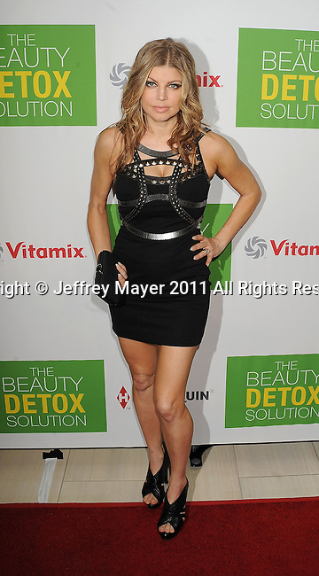 "WEST HOLLYWOOD, CA - APRIL 13: Fergie attends the Kimberly Snyder Book Launch Party For ""The Beauty Detox Solution"" at The London Hotel on April 13, 2011 in West Hollywood, California."