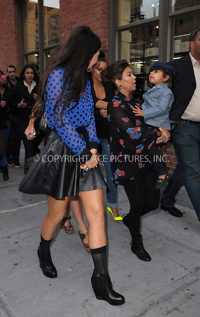 WWW.ACEPIXS.COM . . . . .  ....April 24 2012, New York City....Kylie Kardashian (R) and Kourtney Kardashian take Kourtney's son Mason for a walk in the Meatpacking District on April 24 2012 in New York City....Please byline: CURTIS MEANS - ACE PICTURES.... *** ***..Ace Pictures, Inc:  ..Philip Vaughan (212) 243-8787 or (646) 769 0430..e-mail: info@acepixs.com..web: http://www.acepixs.com