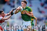 David Clifford Kerry in action against Conor McCluskey Derry in the All-Ireland Minor Footballl Final in Croke Park on Sunday.
