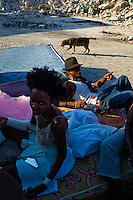 Port Au Prince, Haiti, Jan 21 2010.Darka Selbeaux, 20, has lost most her family in the destruction of her house, including her mother and her baby daughter Marlie who was 7 months old. The quartier Bel Air, a poor area of Port au Prince has been severely damaged. No aid or assistance has reached it yet..