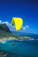 Paragliding off Makapuu point, Oahu