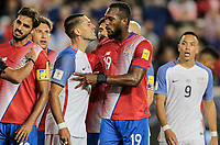 Harrison, N.J. - Friday September 01, 2017:   Clint Dempsey, Kendall Waston during a 2017 FIFA World Cup Qualifying (WCQ) round match between the men's national teams of the United States (USA) and Costa Rica (CRC) at Red Bull Arena.