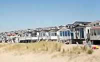 Nederland IJmuiden 2016.  Strandhuisjes. Foto Berlinda van Dam / Hollandse Hoogte