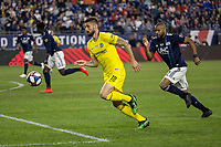 "Foxborough, Massachusetts - May 15, 2019: In ""Final Whistle on Hate"" charity match, Chelsea FC (FFF) defeated New England Revolution (blue/white), 3-0, at Gillette Stadium on May 15, 2019 in Foxborough, Massachusetts. (Photo by Tim Bouwer/ISI Photos)."