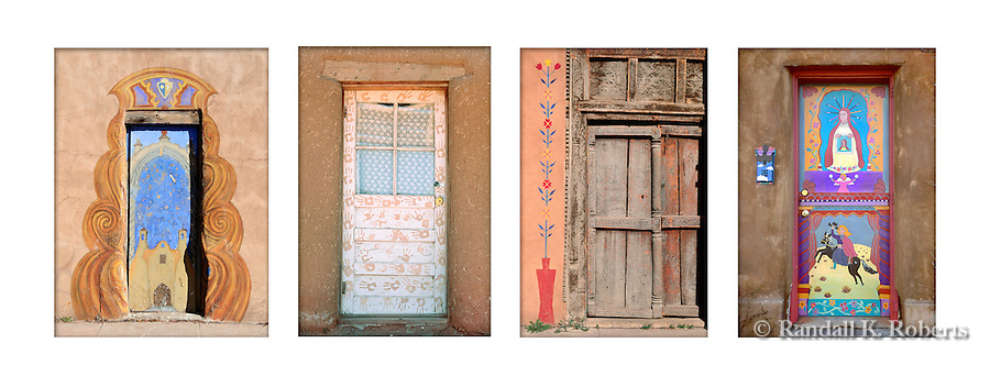 Colorfully painted doors are a tradition in Santa Fe and throughout New Mexico.