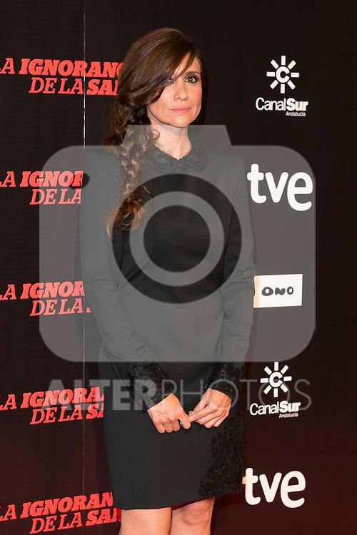 """Maria Botto attends """"La Ignorancia de la Sangre"""" Premiere at Capitol Cinema in Madrid, Spain. November 13, 2014. (ALTERPHOTOS/Carlos Dafonte)"""