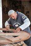 HURGHADA - EGYPT - 03 March 2015 -- Mostafa working in carpenter workshop. -- Photo: Kimmo HAGMAN / EUP-IMAGES
