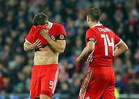 Sam Vokes of Wales shows his disappointment after failing to score with a penalty during the international friendly soccer match between Wales and Panama at Cardiff City Stadium, Cardiff, Wales, UK. Tuesday 14 November 2017.