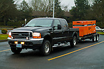 Ford Super Duty towing generator trailer