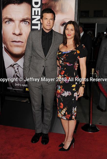 WESTWOOD, CA - FEBRUARY 04: Jason Bateman and Amanda Anka arrive at the 'Identity Thief' Los Angeles premiere at Mann Village Theatre on February 4, 2013 in Westwood, California.