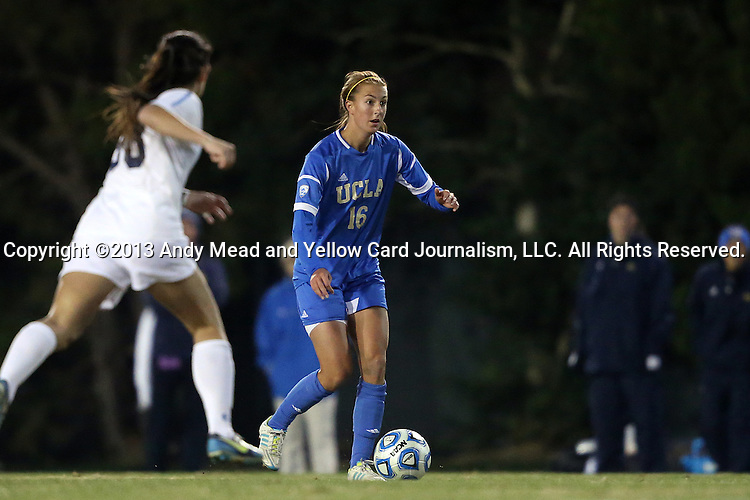 30 November 2013: UCLA's Sarah Killion. The University of North Carolina Tar Heels played the University of California Los Angeles Bruins at Fetzer Field in Chapel Hill, North Carolina in a 2013 NCAA Division I Women's Soccer Tournament Quarterfinal match. UCLA won the game 1-0 in two overtimes.