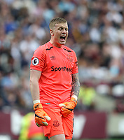Everton's Jordan Pickford<br /> <br /> Photographer Rob Newell/CameraSport<br /> <br /> The Premier League - West Ham United v Everton - Sunday 13th May 2018 - London Stadium - London<br /> <br /> World Copyright &copy; 2018 CameraSport. All rights reserved. 43 Linden Ave. Countesthorpe. Leicester. England. LE8 5PG - Tel: +44 (0) 116 277 4147 - admin@camerasport.com - www.camerasport.com