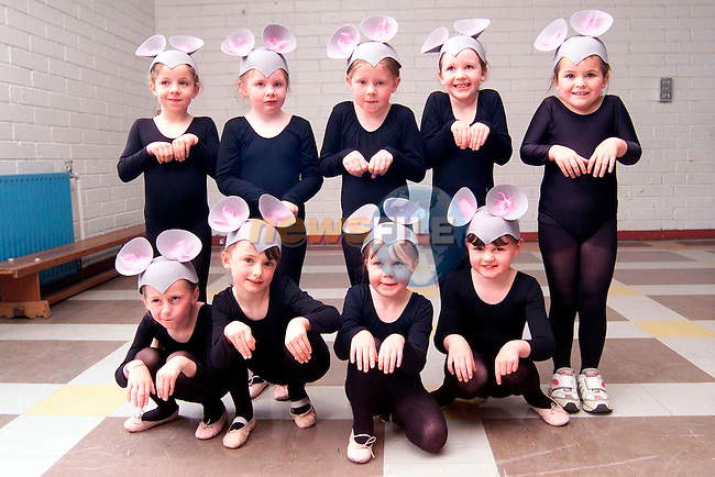 Caoimhe Phillips, Megan Murphy, Marie Sullivan, Anna Sheeran, Katie Gough, Jade Boschell, Niamh Murray, Jill McEvoy and Hannah Lynch who took part in the Katherine Martin School of Ballet end of year show in Laytown National School..Picture: Paul Mohan/Newsfile