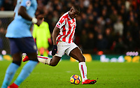 Kurt Zouma of Stoke during the EPL - Premier League match between Stoke City and Newcastle United at the Britannia Stadium, Stoke-on-Trent, England on 1 January 2018. Photo by Bradley Collyer / PRiME Media Images.