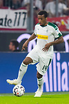 06.10.2018, Allianz Arena, Muenchen, GER, 1.FBL,  FC Bayern Muenchen vs. Borussia Moenchengladbach, DFL regulations prohibit any use of photographs as image sequences and/or quasi-video, im Bild Alassane Plea (Moenchengladbach #14) <br /> <br />  Foto &copy; nordphoto / Straubmeier