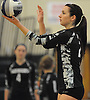 Shannon McEntee #23 of Lindenhurst gets ready to serve during a Suffolk County varsity girls volleyball match against Sachem North at Lindenhurst High School on Wednesday, Oct. 5, 2016. Lindenhurst won the match 3-0.