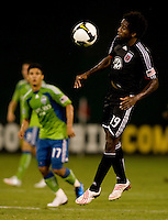 Clyde Simms. The Seattle Sounders defeated DC United, 2-1, to win the 2009 Lamr Hunt U.S. Open Cup at RFK Stadium in Washington, DC.